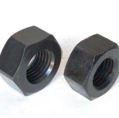 ASME standar hex nut black oxide